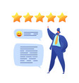 customer feedback prople rating with stars vector image vector image
