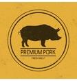 dark mark for porksilhouette pig vector image
