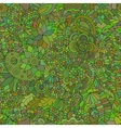 Doodle seamless background oriental green vector image vector image