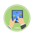 E-commerce infographic concept of purchasing vector image
