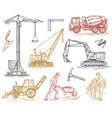 engineering vehicle heavy equipment vector image