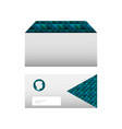 envelopes corporate stationery office template vector image vector image