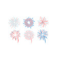 fireworks set design element for holidays vector image vector image