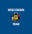 flag usa state wisconsin vector image