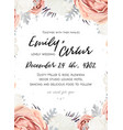 Floral wedding invitation save the date card