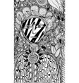 flower spirit - coloring page for adults fantasy vector image