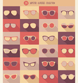glasses set hipster glasses vector image