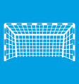goal post icon white vector image vector image