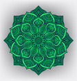 green floral round ornament vector image vector image