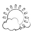 grunge light sun spring weather with clouds vector image vector image