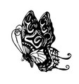 hand drawn sketch of butterfly vector image vector image