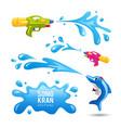 happy songrkran festival colorful gun splash water vector image vector image