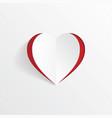 heart shape paper art cutout vector image vector image