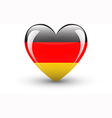 Heart-shaped icon with national flag of Germany vector image