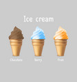 ice cream products ad 3d ice vector image vector image