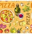 Italian pizza recipe vector image vector image