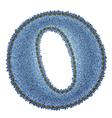 Jeans alphabet Denim letter O vector image vector image
