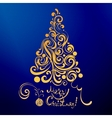 lace christmas tree vector image