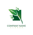 landscaping company icon vector image vector image