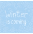 light blue snow background with lettering vector image vector image