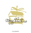 Merry Christmas text design logo vector image vector image