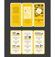 Modern Restaurant menu design pamphlet vector image vector image