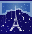 night paris vector image vector image