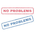 no problems textile stamps vector image vector image