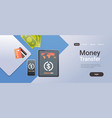 online mobile application internet banking payment vector image