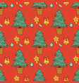 pine tree cartoon green christmas holiday vector image vector image
