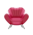 pink armchair on white background vector image
