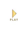 Play button computer symbol vector image vector image