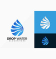pure drop water logo design creative idea logos vector image vector image