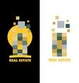 Real estate abstract skyscraper logo vector image vector image