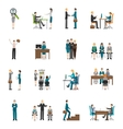Recruitment HR people Icons Set vector image vector image