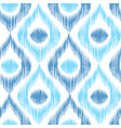 retro ikat blue pattern vector image