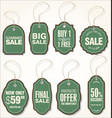 sale labels set 3 vector image