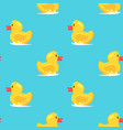 seamless pattern with yellow duck vector image vector image