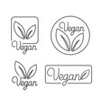 set logo design templates and badges in vector image vector image