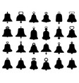 silhouette different bells vector image vector image