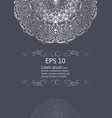 silver mandala vintage decorative elements vector image