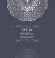 silver mandala vintage decorative elements vector image vector image