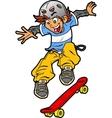 Skateboarder Doing Trick vector image vector image