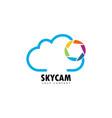 sky cam vector image
