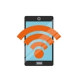 Smartphone and wifi icon Gadget design vector image vector image