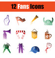 soccer fans icon set vector image