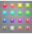 Square colored web buttons vector image vector image