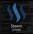 steem cryptocurrency background vector image vector image