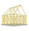 Structure of house in construction vector image vector image