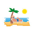 summer relax vector image
